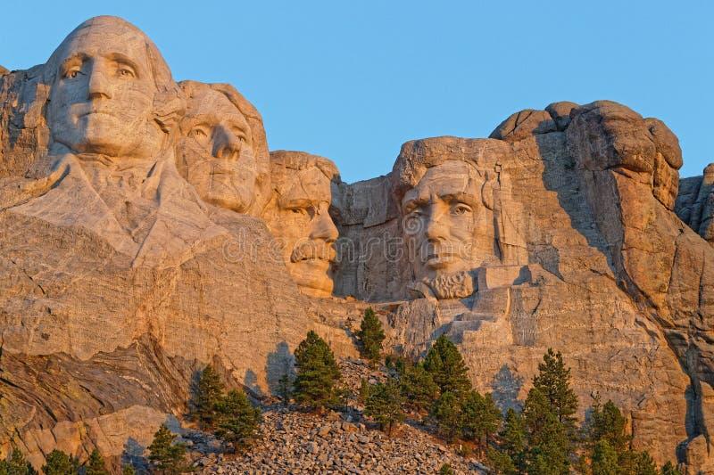 Zet Rushmore-beeldhouwwerken van de Voorzitters op royalty-vrije stock foto