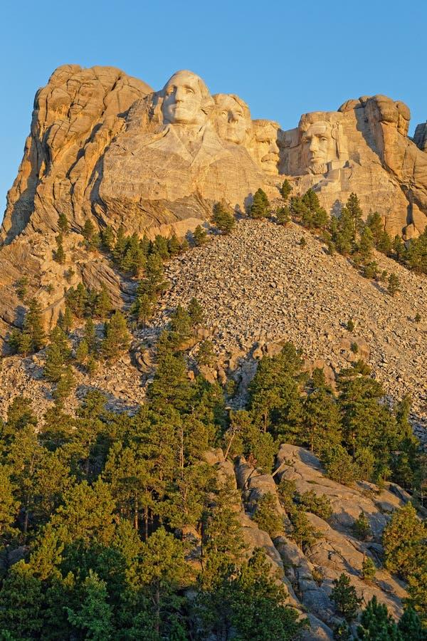 Zet Rushmore-beeldhouwwerken van Vier Voorzitters op stock fotografie
