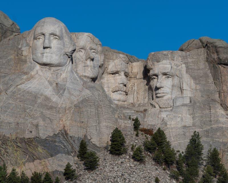 Zet Rushmore bij dageraad op royalty-vrije stock foto's