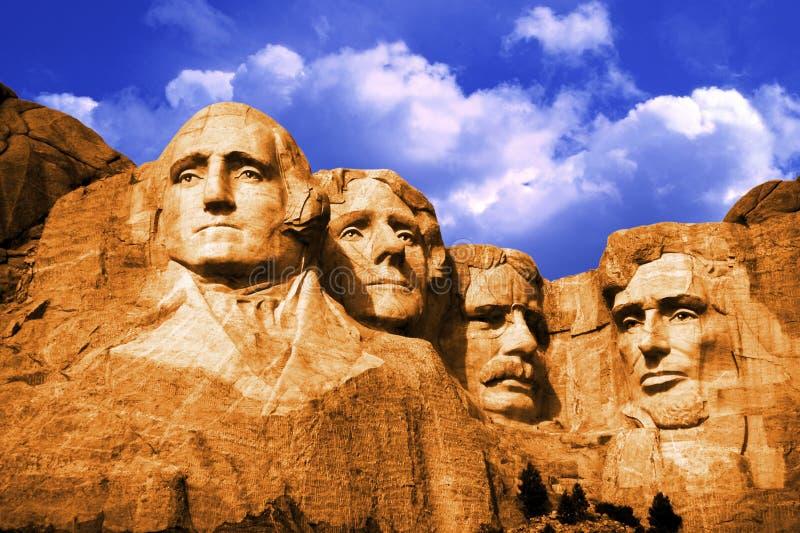 Zet Rushmore, de V.S. op stock afbeeldingen