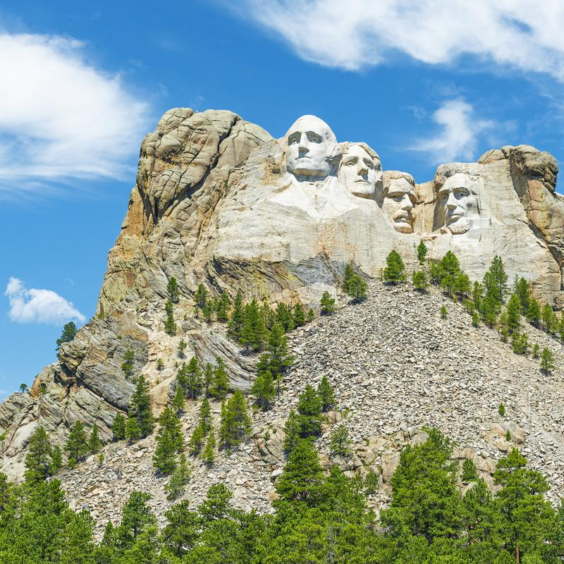 Zet Rushmore-Landschap, Zuid-Dakota op royalty-vrije stock fotografie