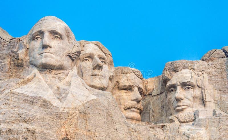 Zet rushmore nationaal gedenkteken op stock afbeelding