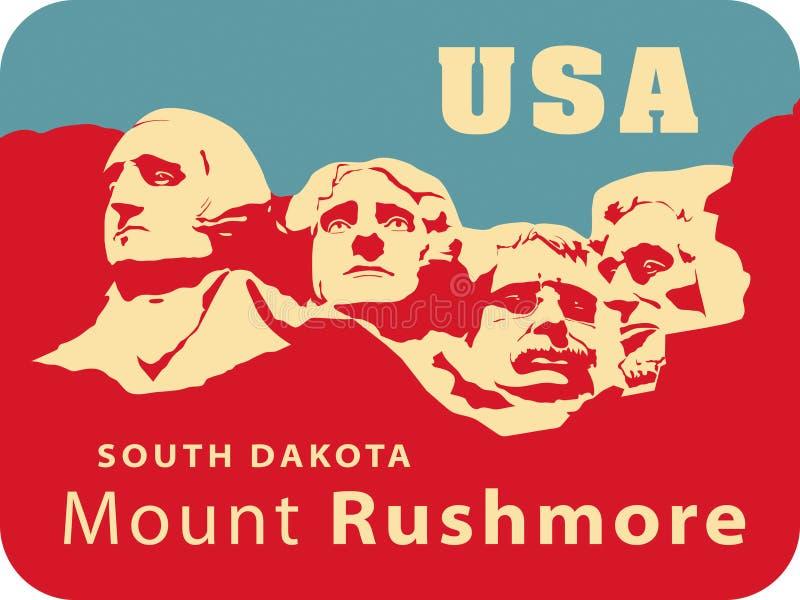 Zet Rushmore op royalty-vrije illustratie
