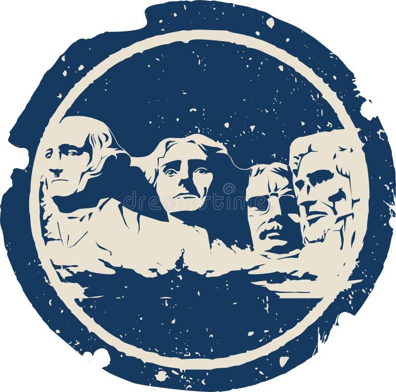 Zet Rushmore op stock illustratie