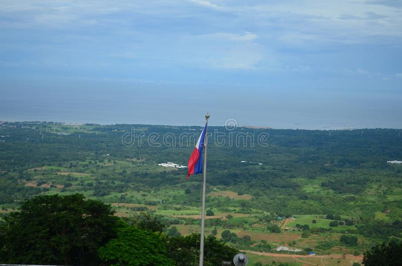 Zet Samat National Shrine op Bataan Filippijnen stock fotografie