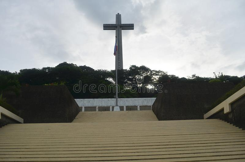 Zet Samat National Shrine op Bataan Filippijnen stock afbeelding