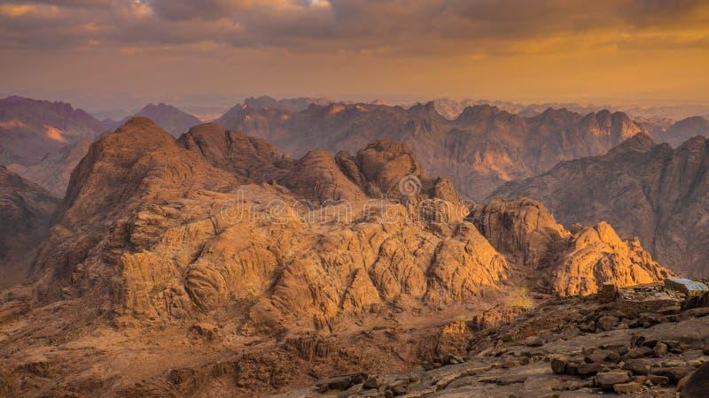 Zet Sinai op Egypte stock foto's