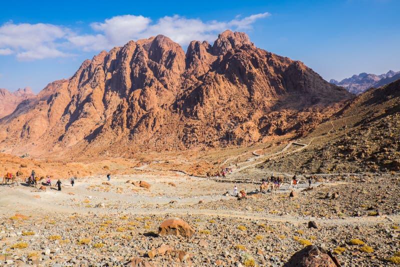 Zet Sinai op Egypte royalty-vrije stock foto