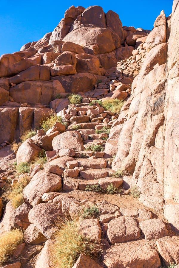 Zet Sinai op, zet Mozes in Egypte op stock afbeeldingen