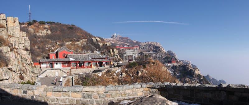 Zet taishan hoogste plateau op shandong royalty-vrije stock afbeelding