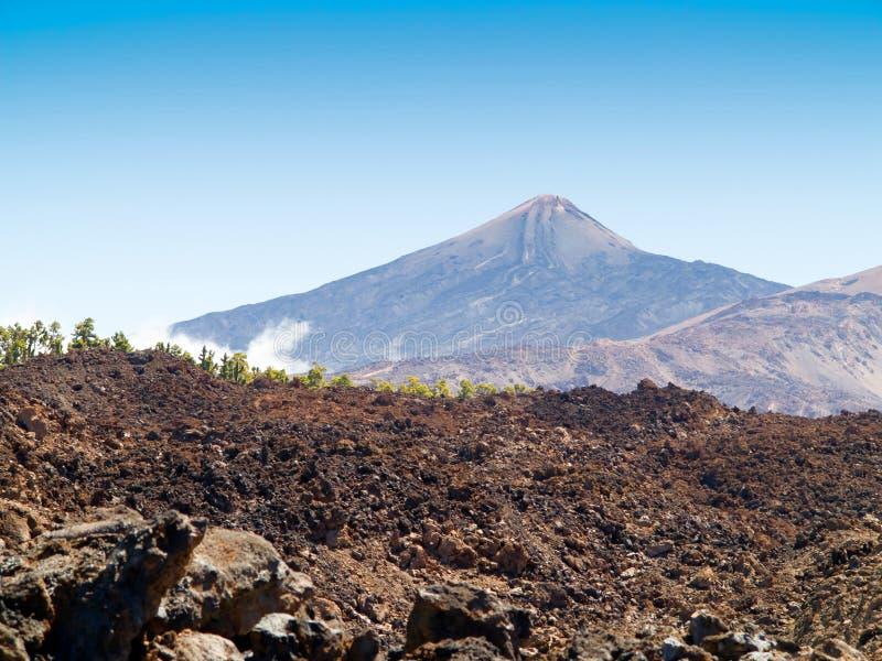Zet Teide op stock fotografie