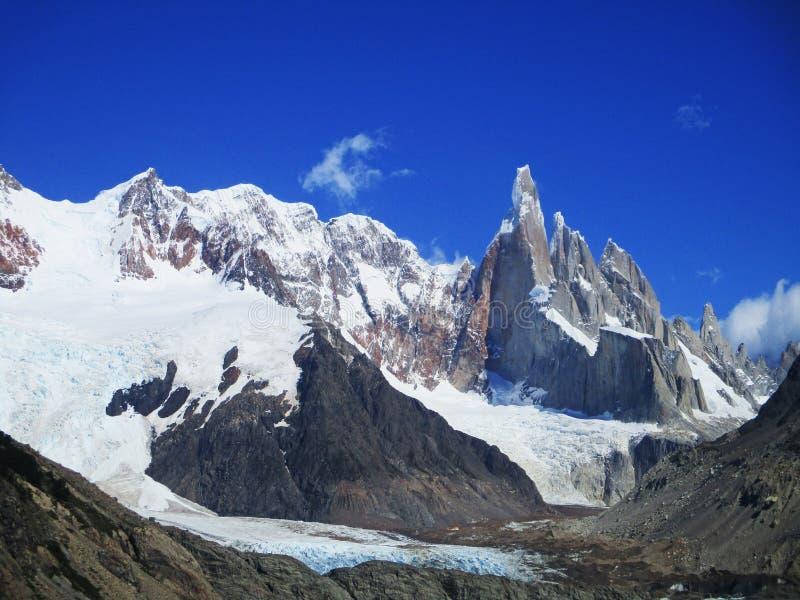 Zet Torre-Weergeven van Laguna Torre, Santa Cruz Argentina op royalty-vrije stock foto