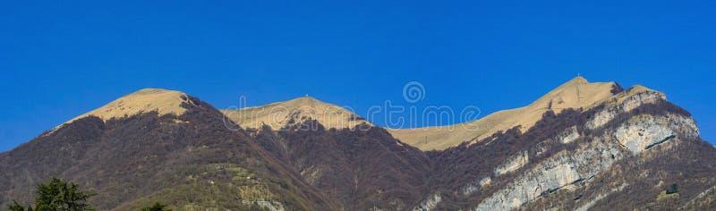 Zet Tremezzo, Meer Como op stock foto