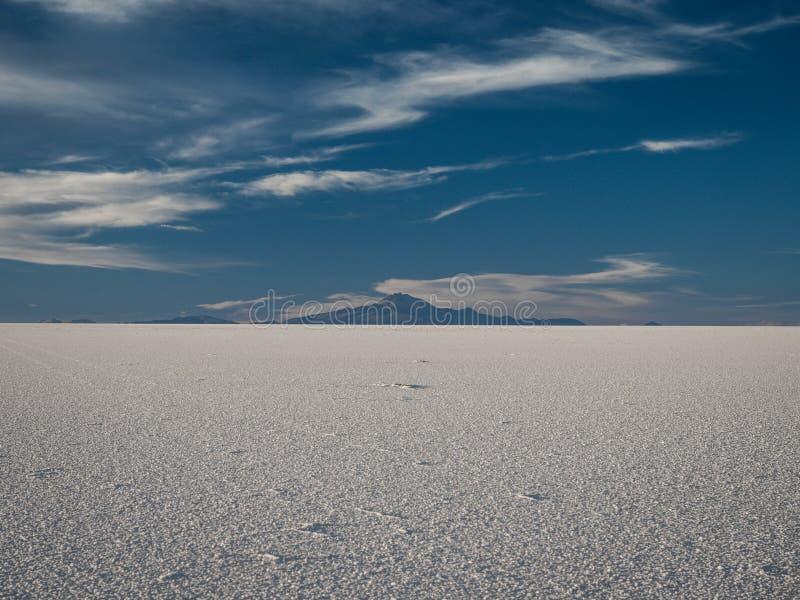 Zet Tunupa in Salar de Uyuni, Bolivië op stock afbeelding