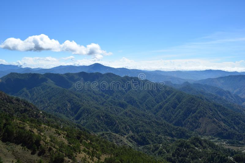 Zet Ulap, MT Ulap, Cordilleras-bergketens, Ampucao-bergketens, Ampucao, Itogon, Benguet, Filippijnen op royalty-vrije stock foto's
