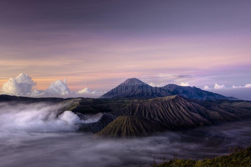 Zet Vulkaan Bromo op stock afbeeldingen