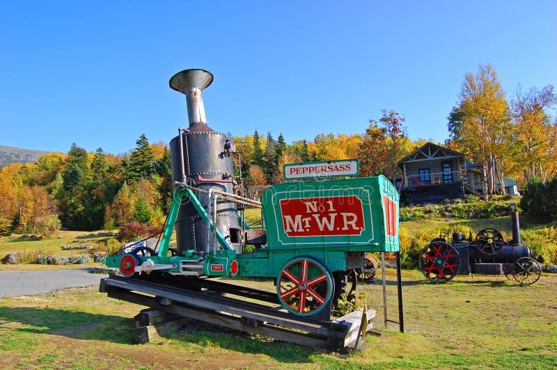 Zet Washington Cog Railroad, New Hampshire op stock foto's
