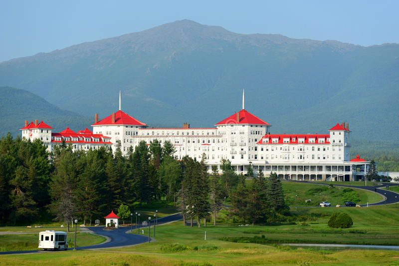 Zet Washington Hotel, New Hampshire, de V.S. op stock afbeelding