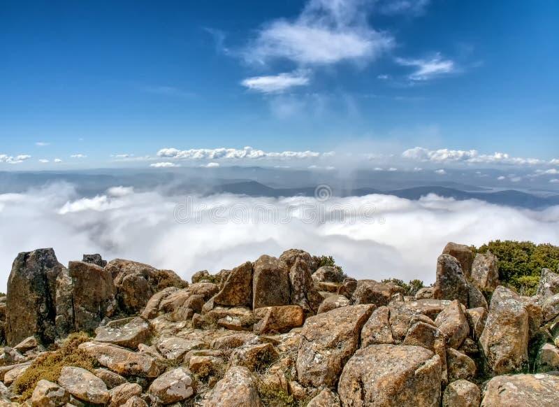 Zet Wellington in Tasmanige Australië op royalty-vrije stock afbeeldingen