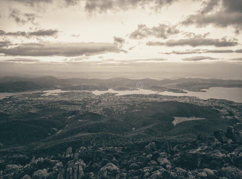 Zet Wellington, Tasmanige op royalty-vrije stock fotografie