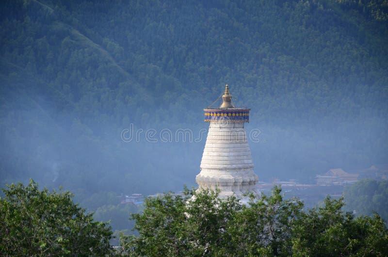 Zet Wutai-de overblijfselen van Pagodeshakya Mani Buddha Buddhist op stock fotografie