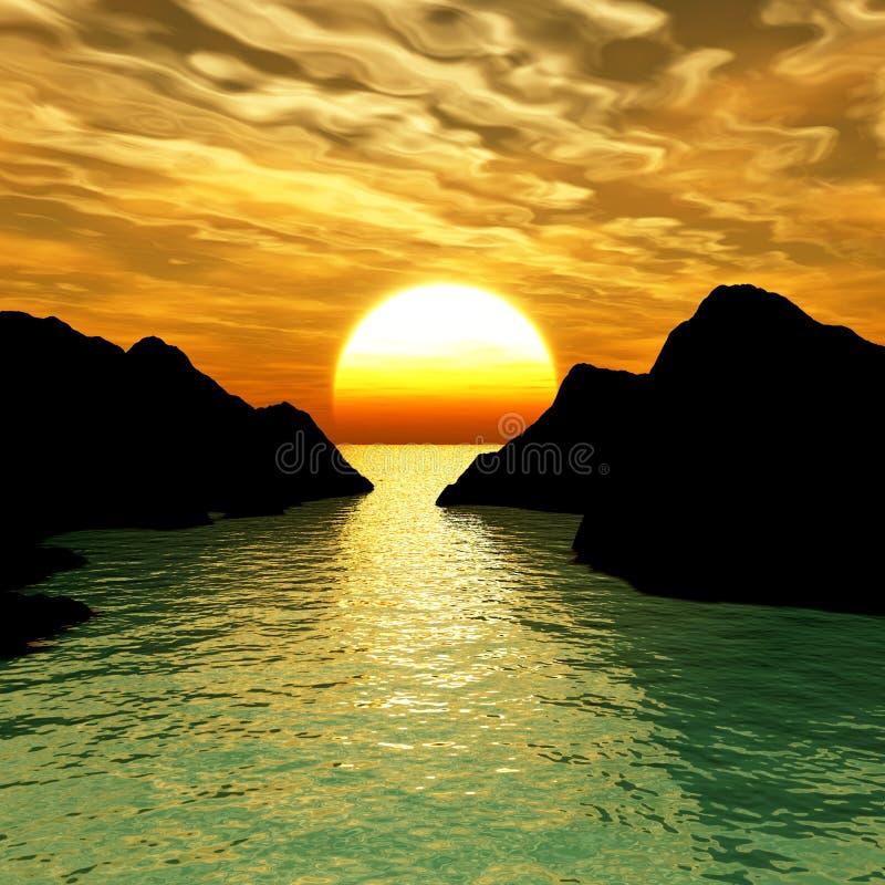 Zet zonsondergang op
