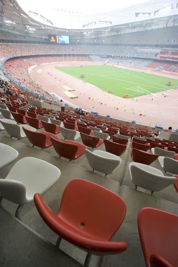 Zetels bij het Olympische Stadion van Peking stock afbeeldingen