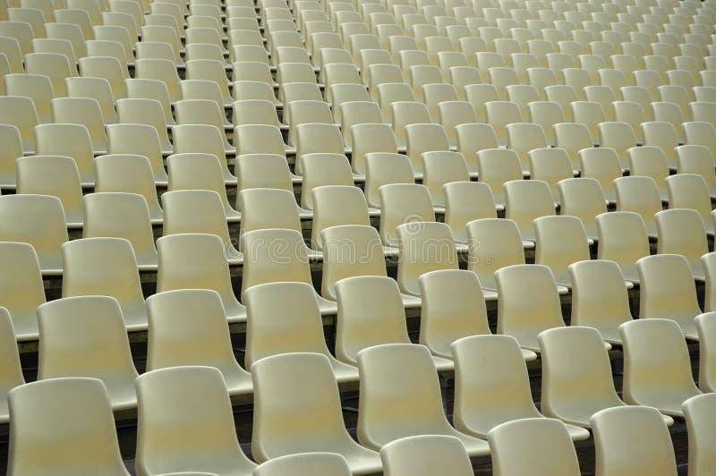 Zetels bij Stadion royalty-vrije stock foto's