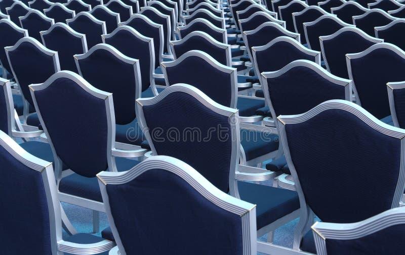 Zetels in lezingszaal stock afbeeldingen