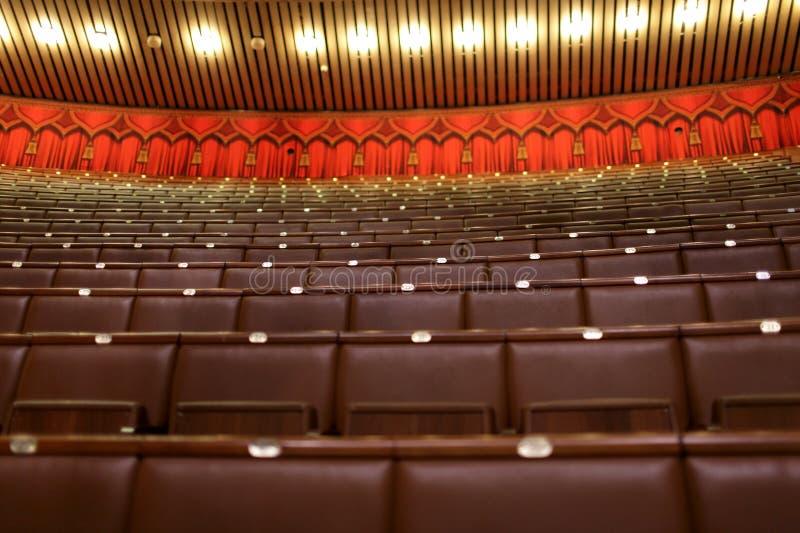 Zetels van theater royalty-vrije stock foto