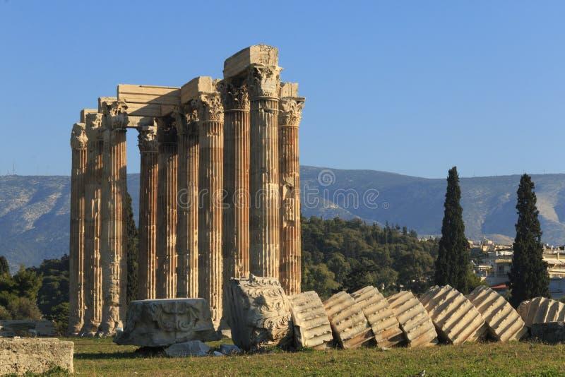 zeus ναών της Αθήνας στοκ εικόνα με δικαίωμα ελεύθερης χρήσης