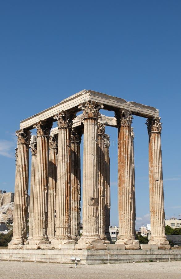 Zeus виска олимпийца Стоковые Изображения RF