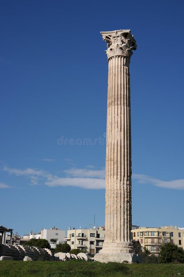 zeus виска олимпийца athens стоковая фотография