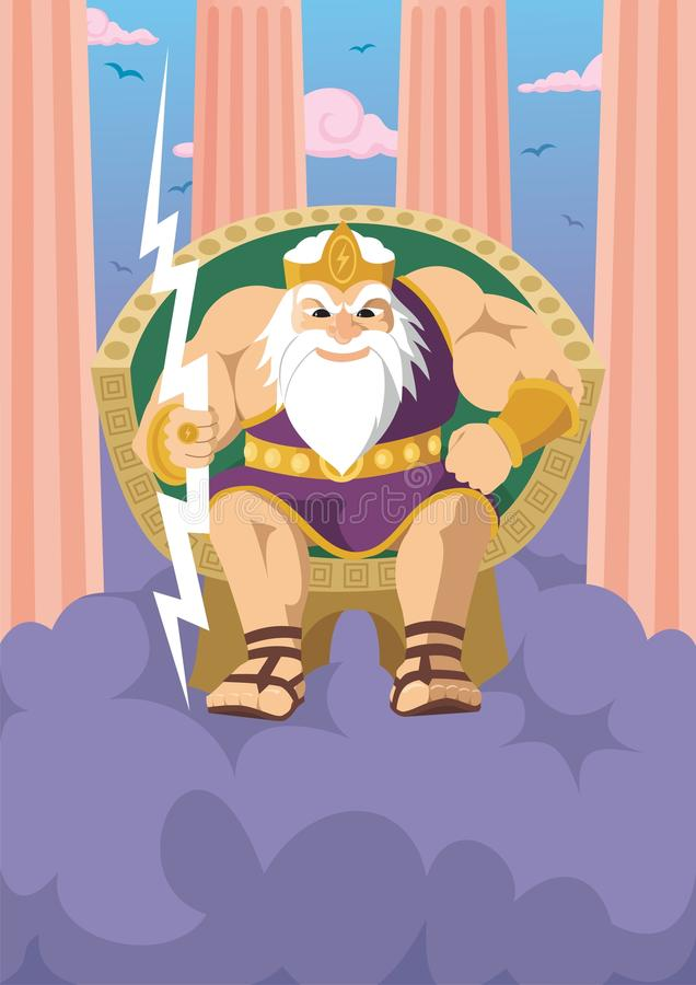 Zeus illustration stock