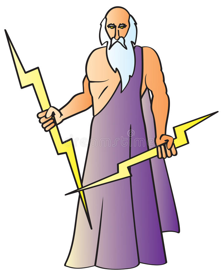 Zeus stock illustratie