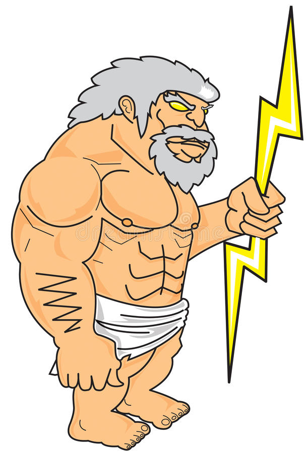 Download Zeus stock vector. Image of illustration, muscle, king - 28235552