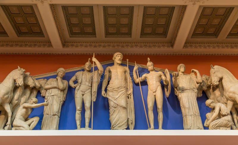Zeus, Athena e outros deuses do grego clássico fotos de stock