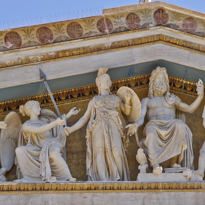 Zeus, Athena e outros deuses e deidades do grego clássico imagem de stock royalty free