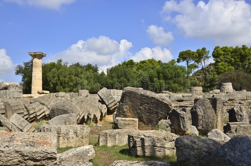 Zeus av Olympia arkivbilder