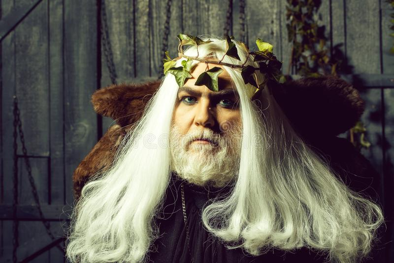 Zeus dans la perruque blanche photographie stock
