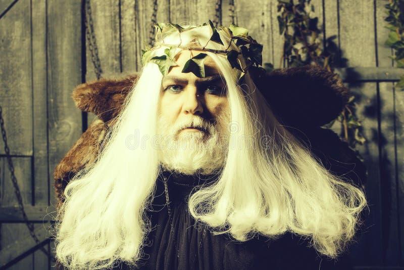 Zeus dans la perruque blanche images libres de droits