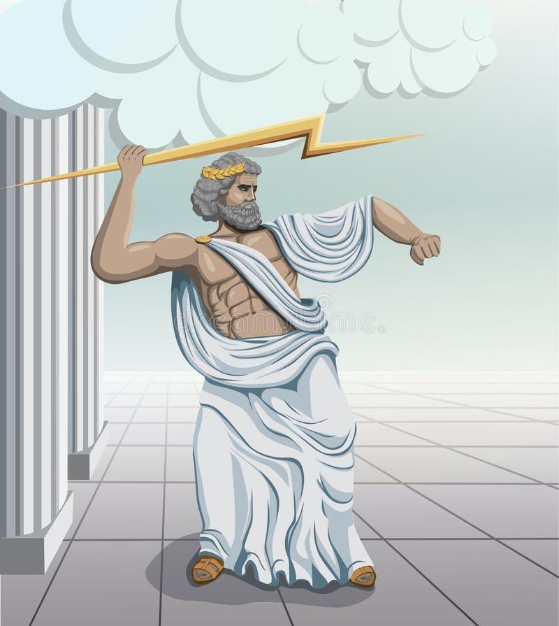 Zeus de dios del griego clásico libre illustration