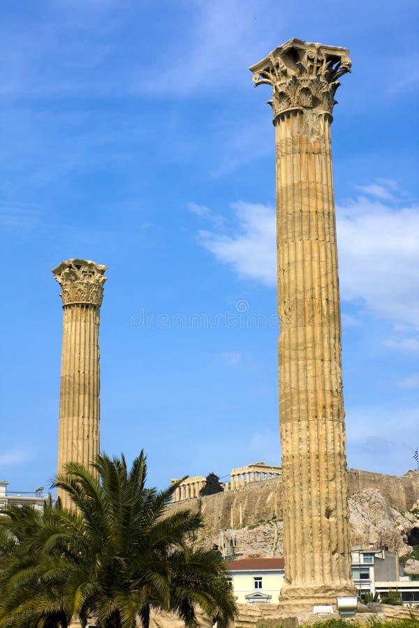 zeus de temple d'Olympia de la Grèce photographie stock
