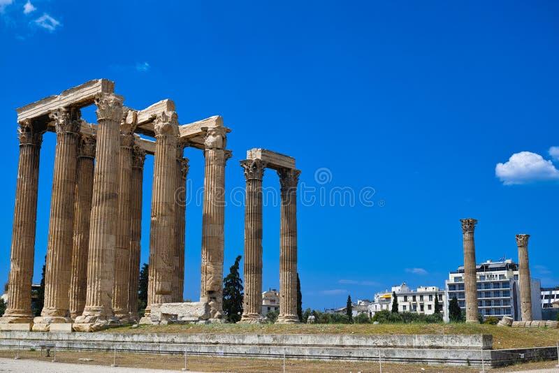 zeus för greece olympiatempel arkivbild