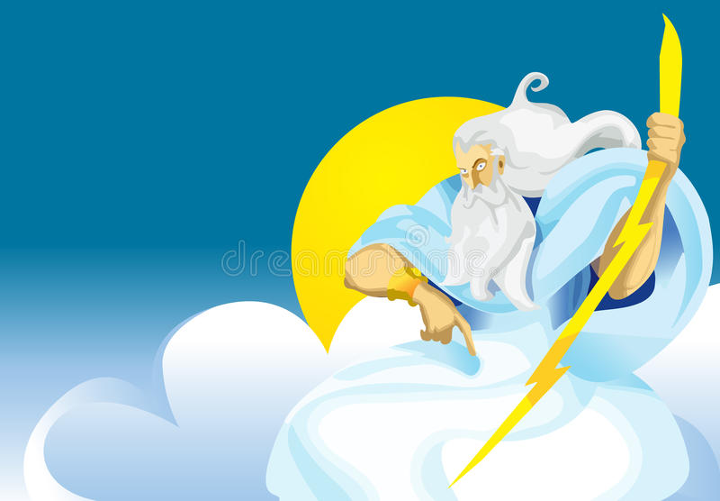 Download Zeus, god stock vector. Image of scepter, bolt, cartoon - 10874661