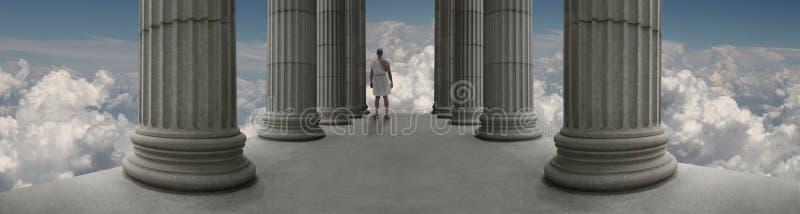 Zeus on Mount Olympus stock photo