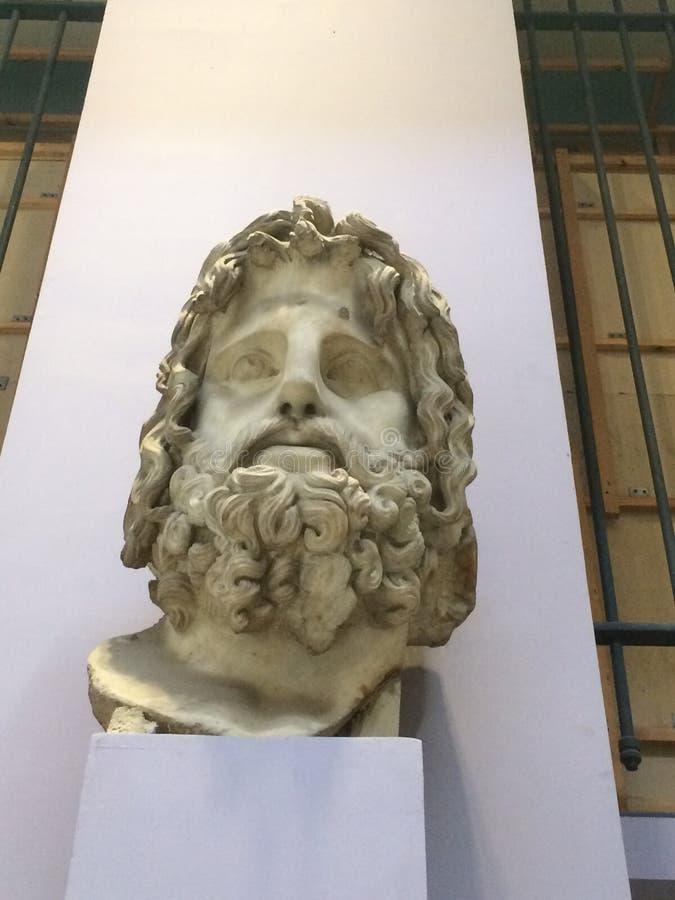 Zeus-standbeeld van de koning van oude Griekse mythologie royalty-vrije stock foto