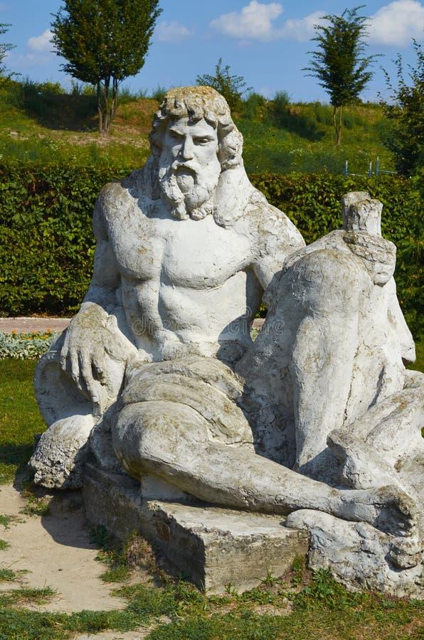 zeus staty Lviv slott royaltyfri foto
