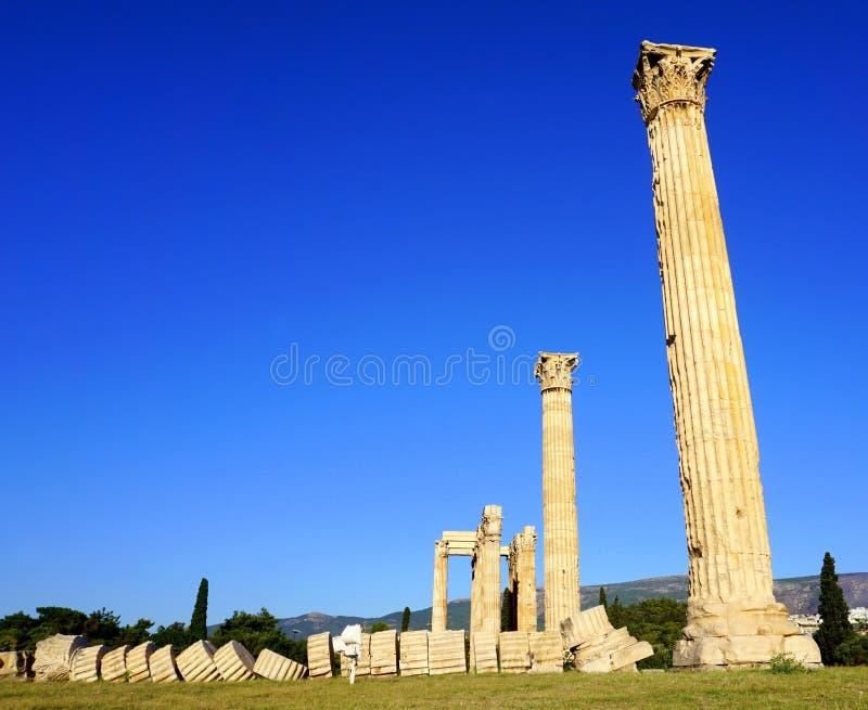 Zeus-tempel royalty-vrije stock afbeelding