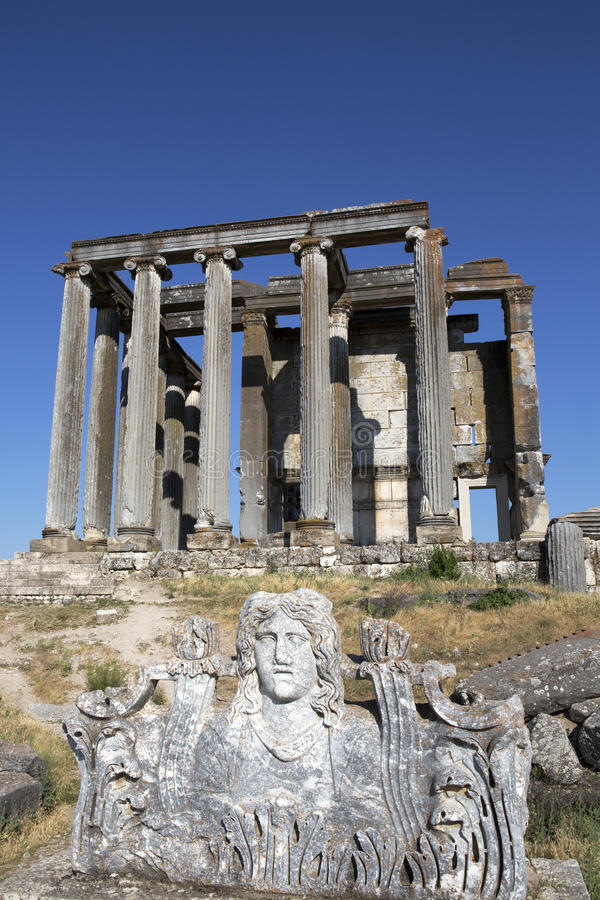 Zeus-Tempel, Aizanoi, Cavdarhisar, Kutahya, die Türkei stockfotos